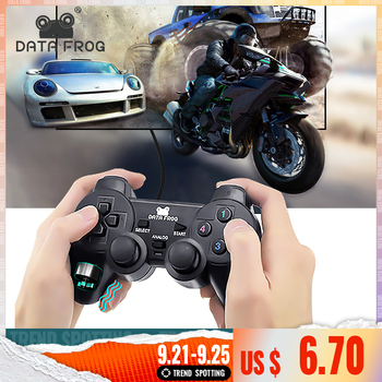 DATA FROG Wired Game Controller Gaming Joypad Joystick USB Gamepad For PC Laptop Vibration Gamepads For Window 7&10 3 pcs wired usb joystick usb pc gamepad gaming controller game joypad for pc computer laptop gift free shipping