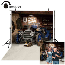 Allenjoy photography background retro car repairs garage tool workshop backdrop photocall photobooth prop printed photophone