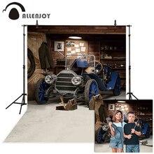 Fotografia allenjoy tło retro samochód naprawy narzędzie warsztatowe warsztat tło photocall photobooth prop drukowane photophone