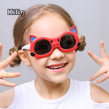 цены New Polarized Kids Sunglasses Boys Girls Baby Cute Shape Infant Fashion Sun Glasses UV400 Eyewear Child Shades Gafas Infantil