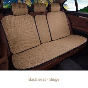 Image 4 - 2 stücke Auto Sitz Abdeckung Blau Mantel Leinen/2 Front oder 1 Zurück Sitzkissen Pad Fit Meisten Auto, lkw, Suv, Schützen Automotive Innen