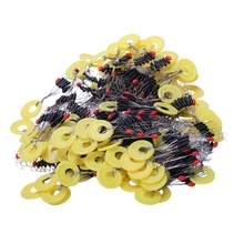 700 Pcs/100 Groups Fishing Bobber Stopper 7 In 1 Black Rubber Oval Float Space Bead Connector Gear For 1.5-3.0# Line