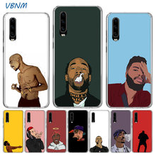 VBNM Rapper Picture Luxury Silicone Phone Back Case For Huawei P30 P20 Mate 20 10 Pro P10 lite P Smart Z Plus + 2019 2018 Cover(China)