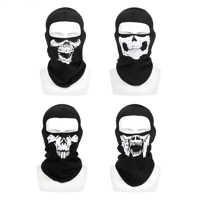LEEPEE Halloween Ghost Skull Breathable Full Face Mask Unisex Motorcycle Bike Windproof Mask Winter Ski Mask Balaclava