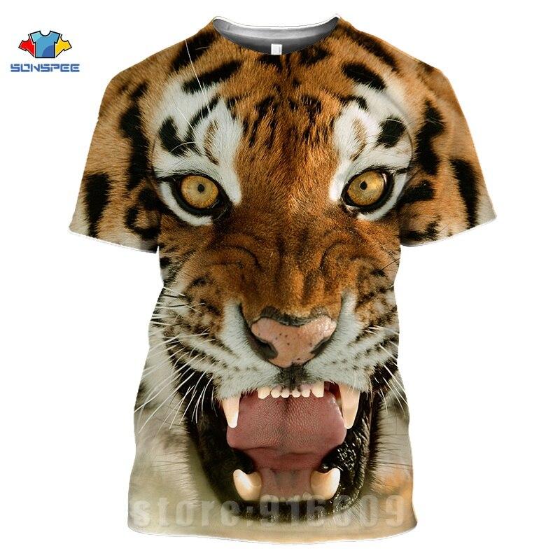 Animal Tiger Face Shirts 3D Print Horror Lion T shirt Streetwear Kid Men Women Fashion T-shirt Harajuku Shirts Homme King Tshirt (2)