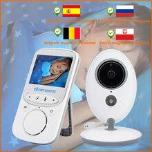 Aparat dla dzieci dla dzieci Walkie Talkie opiekunka do dziecka 2.4 Cal bezprzewodowy LCD Audio wideo niania elektroniczna Baby Monitor VB605 niania muzyki domofon IR 24h