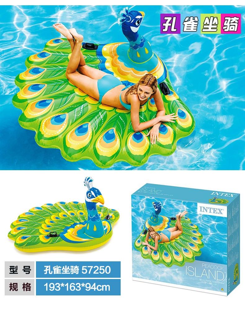 Intex cama flutuante de unicórnio para adultos,