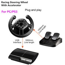 RETROMAX Racing kierownica z akceleratorem na PC/PS3 High Rolling Sense kierownica do komputera/PlayStation3