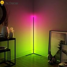 Nordic LED Corner Floor Light Bedroom Atmosphere Floor Lamp Bedroom Bedside Living Room Colorful Dimming Indoor Standing Lights