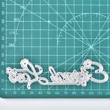 GJCrafts Letter Dies Floral Heart Metal Cutting Scrapbooking Card Making DIY Embossing Stencil Die Cut New Craft Decor