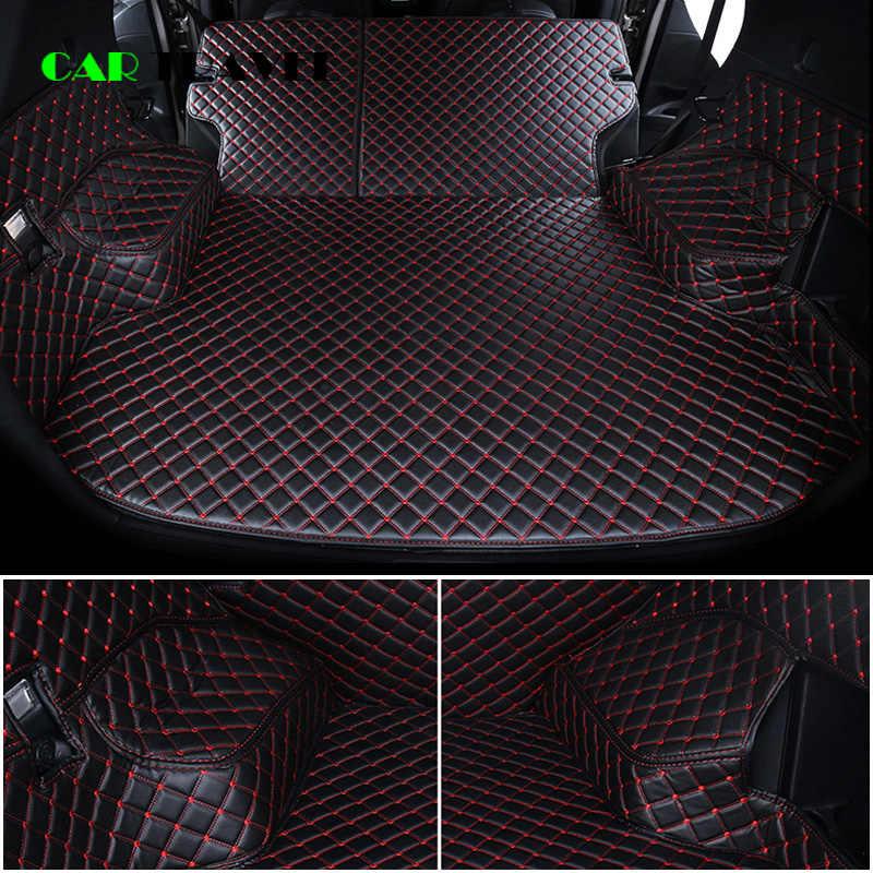 עור מותאם אישית לרכב תא מטען מחצלות עבור kia sportage ql אופטימה k5 ריו 4 x-קו סורנטו נירו נשמת רכב אחורי אתחול אוניית מטען תא מטען מחצלת
