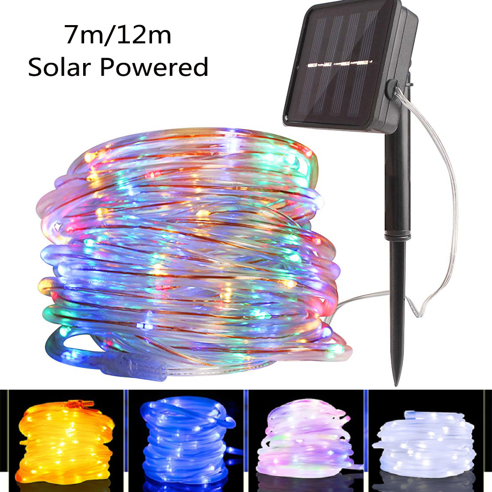 7m/12m Holiday Lighting String 50/100 Led Fairy Light Outdoor Solar Lamp LED Garland Party Christmas Light Decoration Waterproof