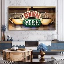 Картина на холсте «Центральный Перк» кафе постеры и принты для