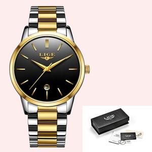 Image 5 - LIGE 2020 New Fashion Gold Watch Women Watches Ladies Creative Steel Womens Bracelet Watches Female Gift Clock Relogio Feminino