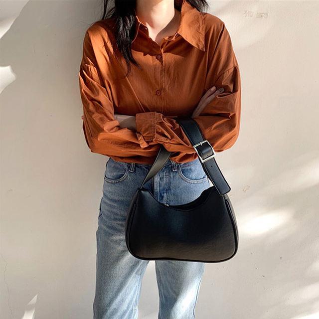 2020 Soft Leather Ladies Totes Vintage Small Shoulder Bag