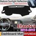 Для hyundai Elantra 2016 2017 2018 2019 AD Avante Противоскользящий коврик на приборную панель солнцезащитный Коврик Анти-УФ аксессуары с покрытием