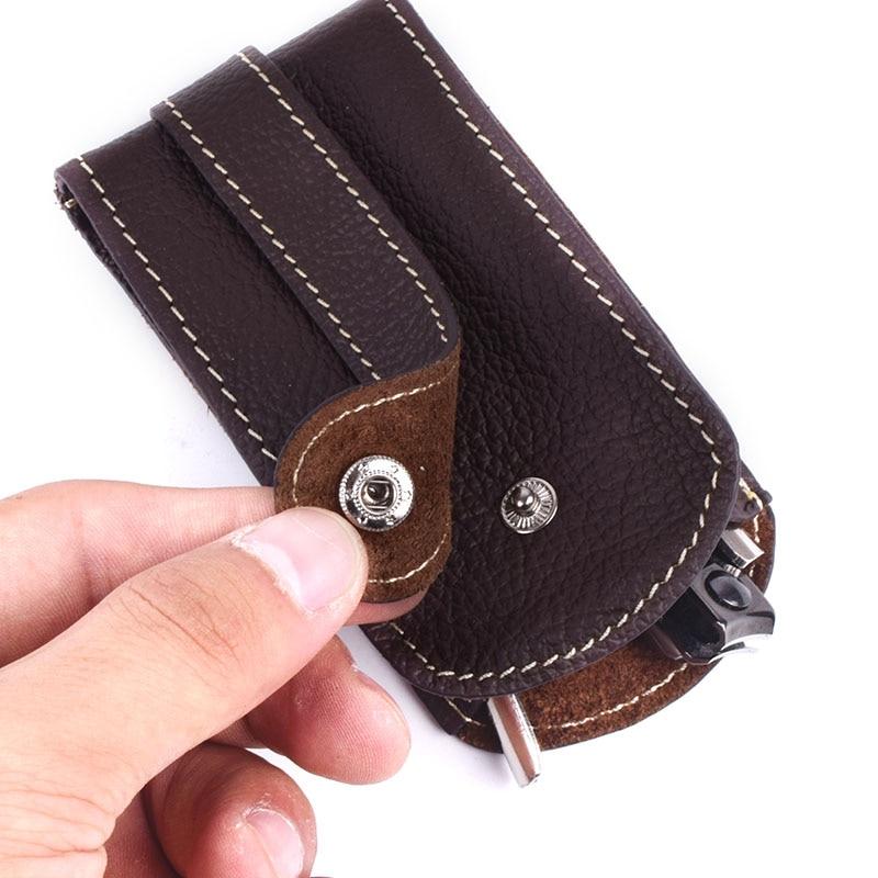 Soft Genuine Leather Keychain Housekeeper Case Wallet EDC Women Hasp Car Key Holder Organizer Bag Men Pull-Style Keys Pouch