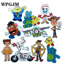 50pcs 5set Toy Story 4 Forky  Waterproof PVC Stickers DIY Decals Kids Toys Anime Cars Laptop Luggage Skateboard Suitcase Sticker