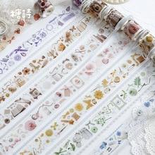 2 рулона/упаковка цветок дерево Ангел васи лента DIY декоративная Скрапбукинг маскирующая лента клейкая этикетка наклейка лента канцелярские товары
