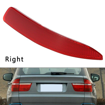 Car Left Right Rear Bumper Reflector ABS+PC For BMW X5 E70 2007 2008 2009 Without Bulbs 21*3.4cm Just a mirror no light bulbs image