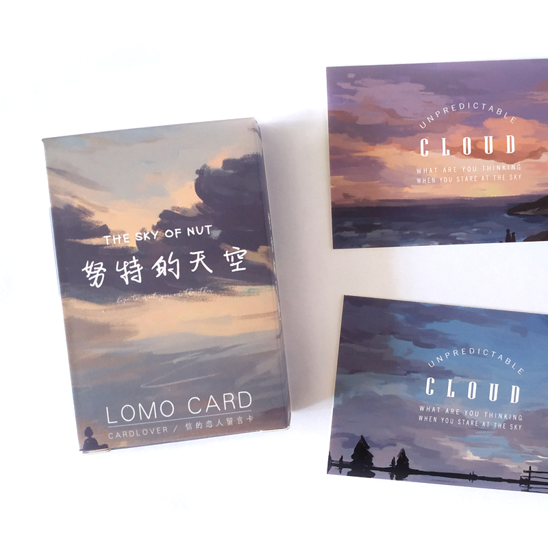 28 Sheets/Set Creative The Sky Of Nut Lomo Card Mini Postcards Greeting Card Birthday Letter Gift Card