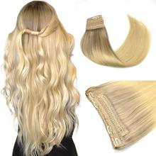 Fish Line Human Hair Extension Invisible Wire Hair Extensions Remy Hair Straight Straight