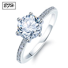 BFH Trendy Crystal Engagement Claws Hot Sale Rings For Women AAA Zircon Cubic Ring Female Wedding Jewelry 2019 double eleven(China)