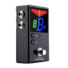 цена на Protable Guitar Pedal Tuner For Guitarra Bass Violin Ukelele Guitar Tuner Stringed Instruments Clear View With Fnd Screen