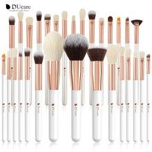 DUcare 15/27 makyaj fırçası profesyonel makyaj fırçaları doğal saç pudra fondöten vurgulayın fırça seti göz farı fırça