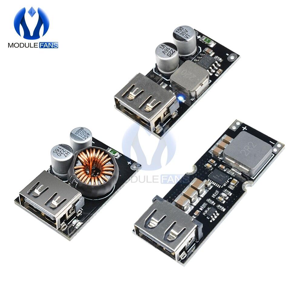 DC 6V-32V To 5V Step-down Power Supply Module USB DC QC3.0 Quick Charge Board