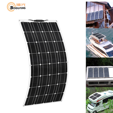 BOGUANG Flexible Solar Panel Charger 16V 100W placa pannello Photovoltaic solar energy  for 12V battery charging china