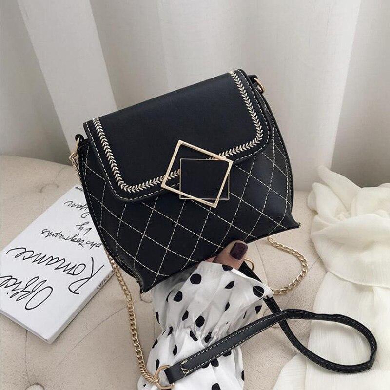 สินค้าใหม่ผู้หญิงไหล่กระเป๋าสายโซ่ Crossbody กระเป๋าสำหรับกระเป๋า Messenger ผู้หญิงลายสก๊อตกระเป๋าถื...