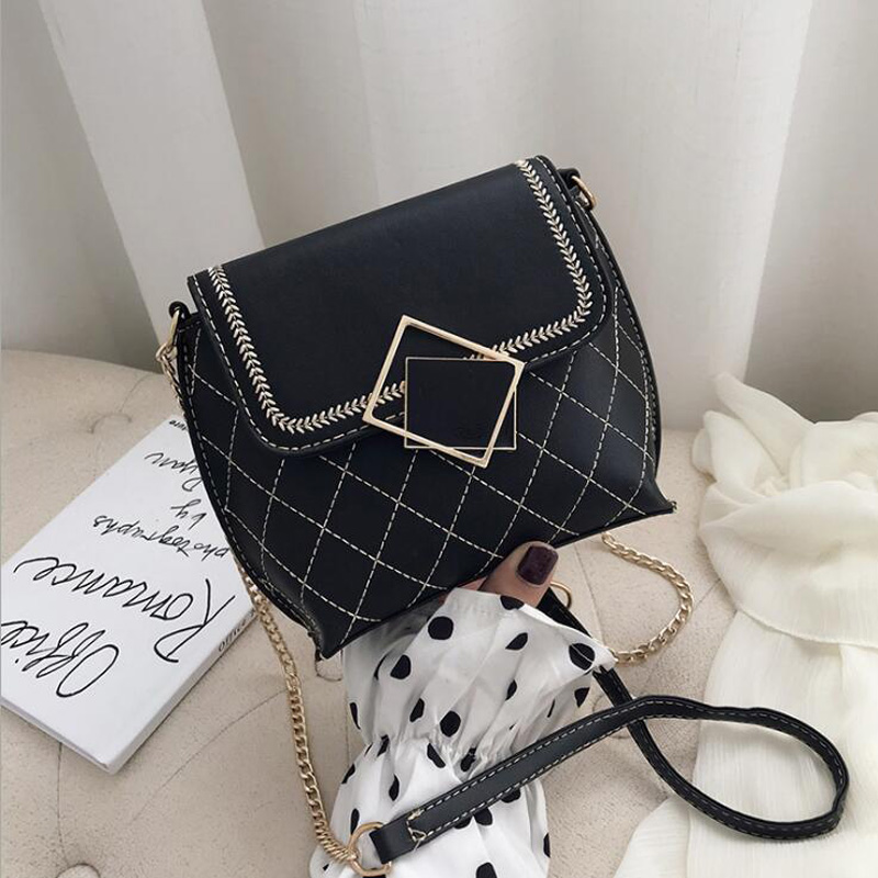 New Arrivals Women Shoulder Bags Chain Strap Crossbody Bags For Women Messenger Bags Plaid Ladies Handbag