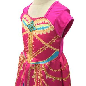 Image 3 - אלדין יסמין שמלת תלבושות ורוד פוקסיה בגד לילדים