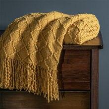 Couverture tricotée à carreaux pour lit, couvre-lit Super doux pour poussette, emmaillotage pour nourrissons et enfants
