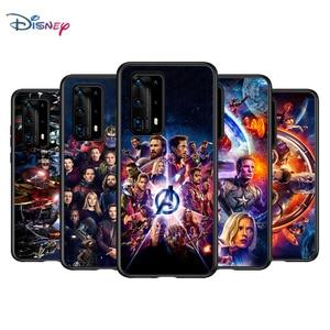 Image 2 - Marvel Avengers için P40 P30 P20 Pro P10 P9 P8 Lite RU E Mini artı 2019 2017 siyah telefon kılıfı
