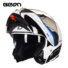 BEON Filp Up Motorcycle Helmet Casco Moto Motorbike Capacete Double Visor Full Face Racing Motocross Helmet Men Women new gxt 160 flip up motorcycle helmet double lense full face helmet casco racing capacete