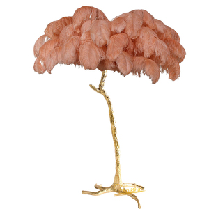 Image 5 - Nordic Ostrich Feather Living Room LED Floor Lamps Living Room Bedroom Modern Interior Lighting Decor Floor Light Standing Lamp
