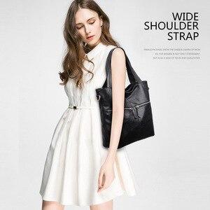 Image 2 - Yonder אמיתי עור תיק לנשים תיק ליידי של תיק גדול קיבולת כתף crossbody תיק באיכות גבוהה tote sac עיקרי femme