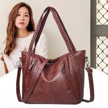 New brand high quality soft leather large pocket casual handbag women's handbag shoulder ba