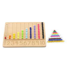 Montessori Math Toys Wooden Beads Board Writing Learning Kids Toys Educational Math Materials Juguetes 3 year olds I3064H