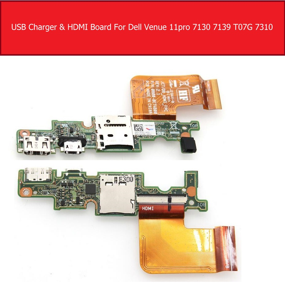 Micro USB Charger & HDMI Port IO Board FOR DELL Venue 11 Pro 5130 7130 7139 T0G7001 R26KY 0R26KY Memory Card Board Replacement