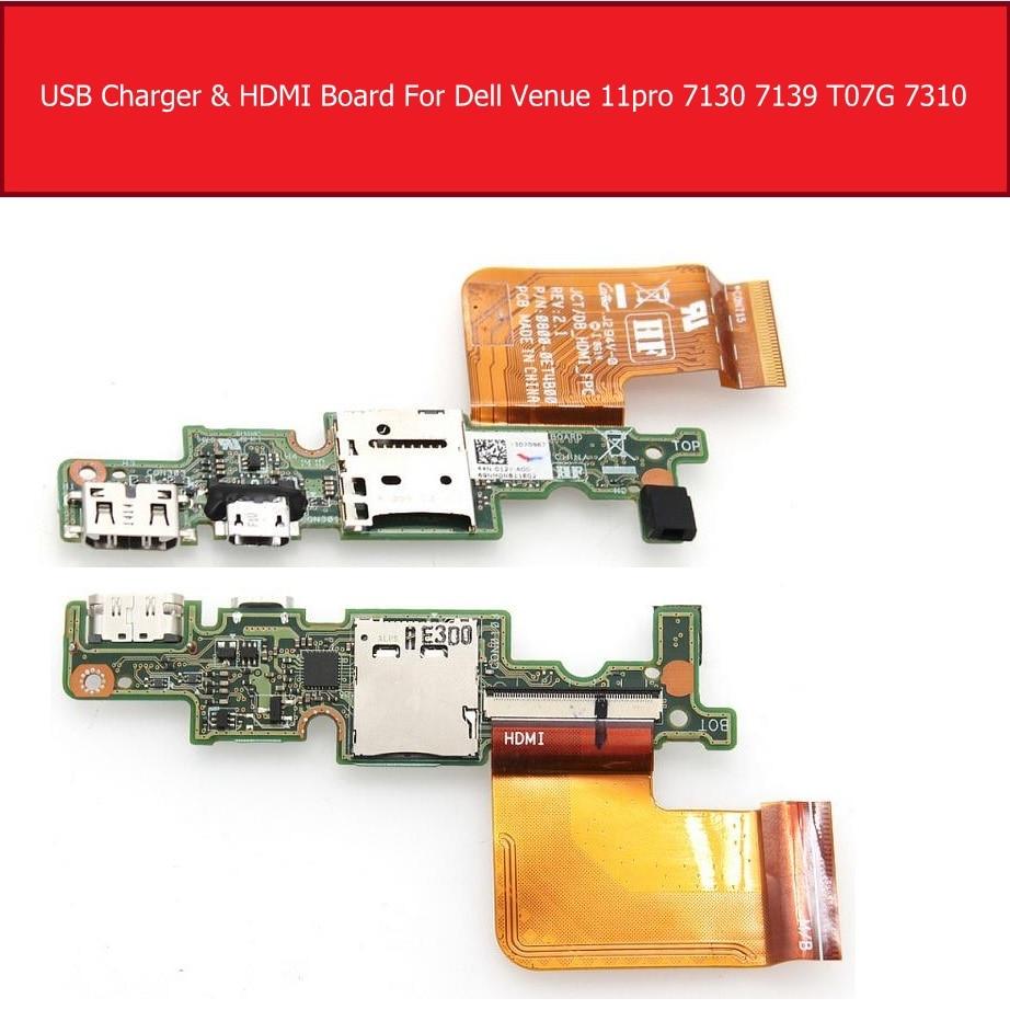 Micro USB зарядное устройство и HDMI порт IO плата для DELL Venue 11 Pro 5130 7130 7139 T0G7001 R26KY 0R26KY Замена платы карты памяти