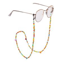 Fashion Womens Colored Beaded Eyeglass Chains Sunglasses Reading Glasses Chain Eyewears Cord Holder neck strap Rope