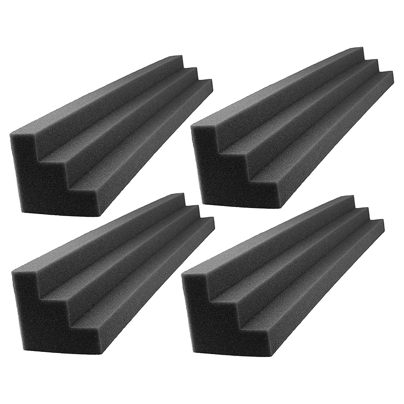 4 Piece Soundtrack with Studio Foam Corner Block Facing Corner Wall Studios or Home Theater Black image
