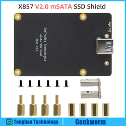 Плата расширения для SSD-накопителя Raspberry Pi 4, X857 V2.0 mSATA с разъемом USB3.1 для Raspberry Pi 4 Model B