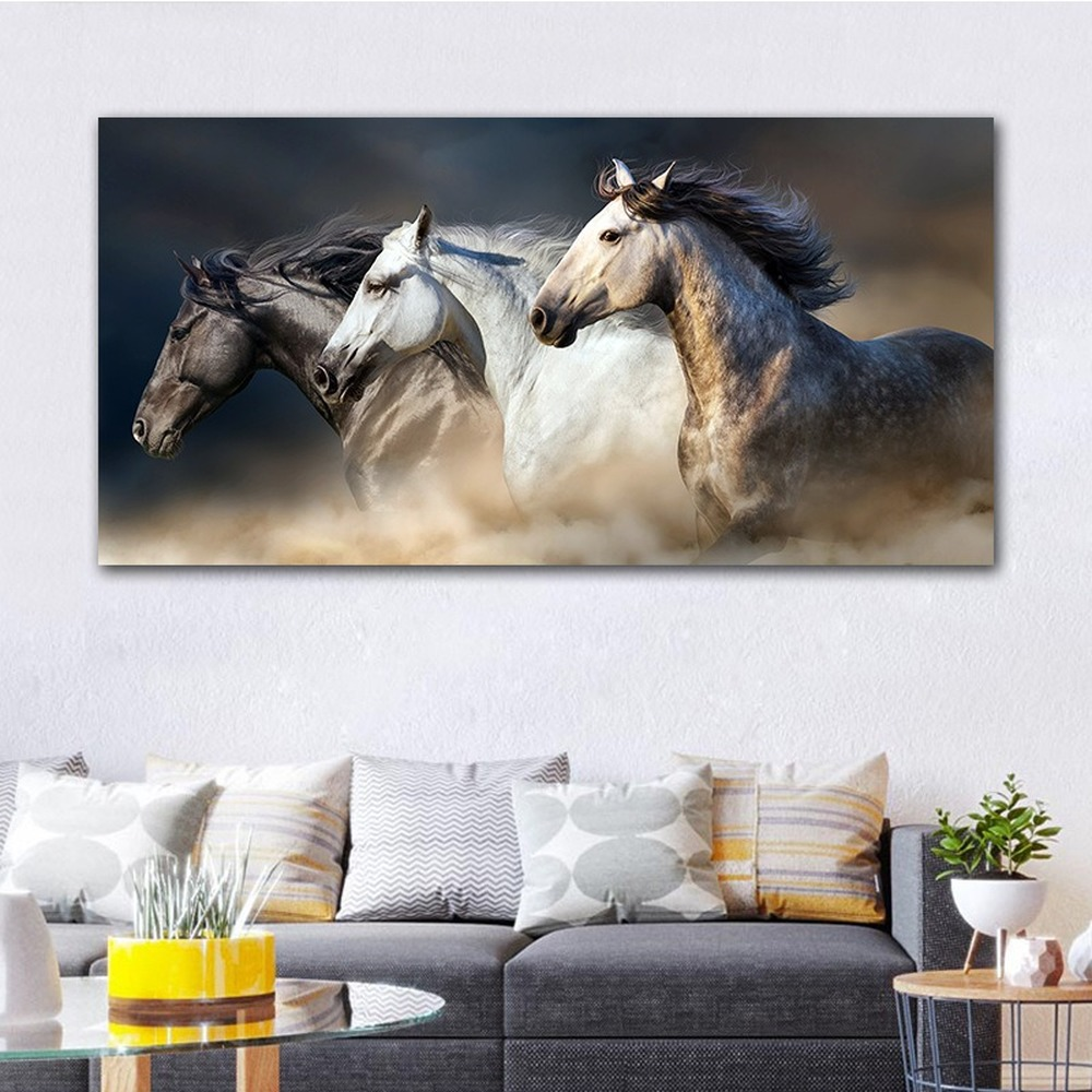 Poster Wall Art Horse Art Print // Canvas Print Home Decor