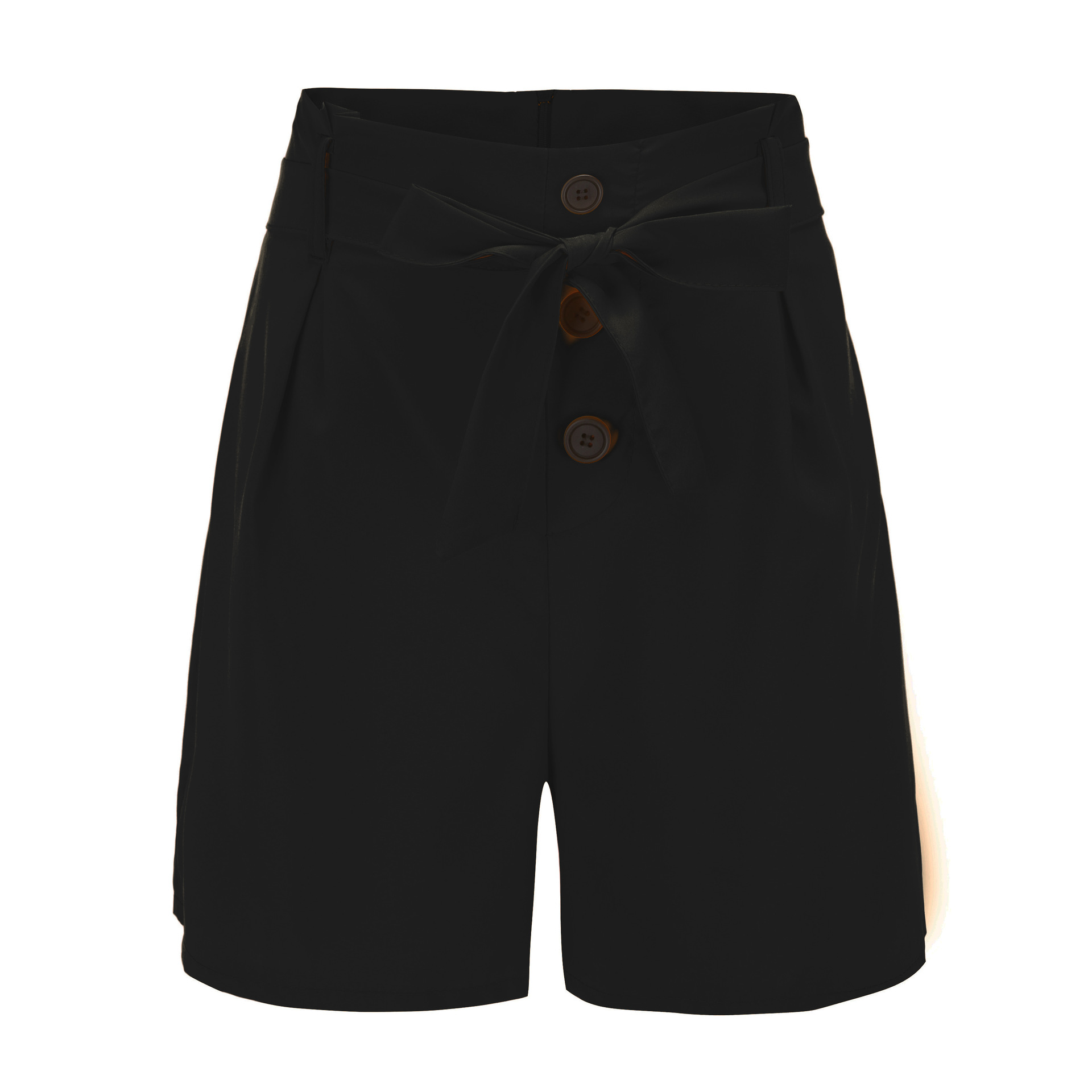 ONCE Women Shorts High Waist Buttons Sashes Elegant  Summer Zip-Up Skinny Shorts Solid Plus Size Pockets Summer Casual Shorts 7
