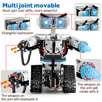 2020 NEW SEMBO Technic RC Robot Building Blocks Creator City Remote Control Intelligent Robot Car Weapon Brick Toys For Children 3