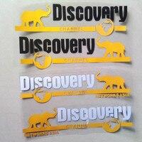Pegatinas de Discovery Channel para puertas, calcomanías creativas de Asia, decoración con estilo para coche Duad